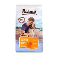 """Сухой корм """"Karmy"""" 15кг Active Maxi Medium д-собак средних и крупных пород Индейка"""