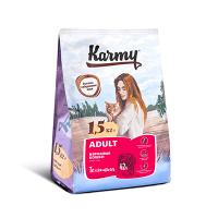 """Сухой корм """"Karmy"""" 1,5кг Adult д-кошек Телятина"""