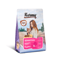 """Сухой корм """"Karmy"""" 1,5кг Sensitive д-кошек с чувств.пищеварением Индейка"""