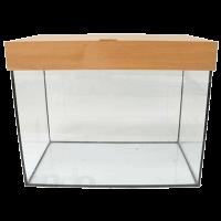 Аквариум 20л. прямоугольный стекло-крышка-свет (R20012)