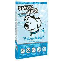 "Сухой корм ""Barking Heads"" 12кг ""Рыбка вкусняшка"" Б/З д-собак  лосось-форель-батат"