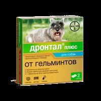 "Bayer ""Дронтал Плюс"" 2т антигельметик д-собак со вкусом мяса"