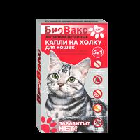 БиоВакс Капли от блох д-кошек 2пип* 0,75мл (чайное дерево и далматской ромашки)