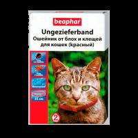 """Ошейник """"Беафар"""" 35см оранжевый д-кошек от блох и клещей"""
