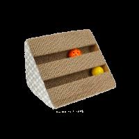 ГофроКогтеточка трехсторонняя с 2 шариками ,малая 28*17,5*17,5см (1868288)