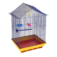"""Клетка """"Домик"""" для птиц  35*28*55 (430)"""