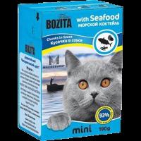 """Консервы """"Бозита"""" 190г д-кошек кусочки морской коктейль в соусе"""