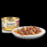 """Консервы """"Гурмэ голд"""" 85г жесть Кусочки в паштете по-французски утка, морковь, шпинат"""