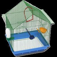 Клетка д-птиц малая домик комплект (410)