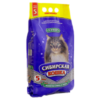 """Наполнитель """"Сибирская кошка"""" супер комкующийся (крупные гранулы) 10л"""