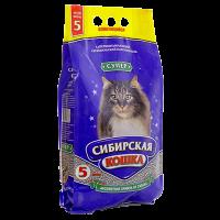 """Наполнитель """"Сибирская кошка"""" супер комкующийся (крупные гранулы) 5л"""