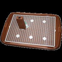 Туалет Triol д-собак большой со столбиком и сеткой 60*45см (Мт-601)