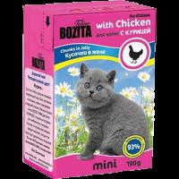 "Консервы ""Бозита"" 190г д-котят кусочки курица в желе"