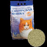 """Наполнитель """"Сибирская кошка"""" прима комкующийся 5л"""