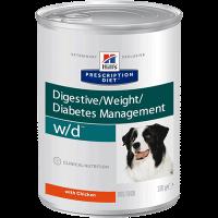 """Влаж.корм """"Хиллс"""" 370г w-d д-собак лечение диабета,запоров,колитов"""