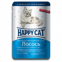 """Консервы """"Хеппи Кэт"""" 100г пауч д-кошек кусочки в соусе лосось"""