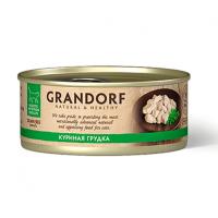 """Консервы """"GRANDORF"""" 70г д-кошек 75% мяса куриная грудка"""