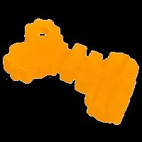 """DogLike Игрушка """"Ключ"""" д-собак 105мм*62мм*14мм желтый (D11-1093)"""