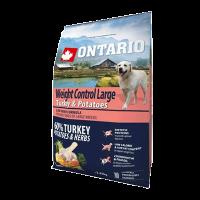 """Сухой корм """"Ontario"""" Adult Large Weight Control 2.25кг Контроль веса д-крупных пород индейка-картофе"""