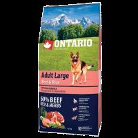 "Сухой корм ""Ontario"" Adult Large 12кг д-крупных пород говядина-рис"