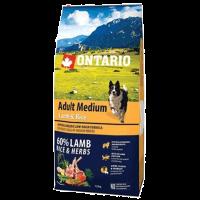 """Сухой корм """"Ontario"""" Adult Medium 12кг д-собак ягненок-рис"""
