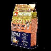 """Сухой корм """"Ontario"""" Pappu Large 12кг д-щенков крупных пород курица-картофель"""