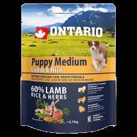 """Сухой корм """"Ontario"""" Pappu Medium 750г д-щенков малых пород ягненок-рис"""
