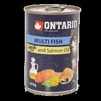 """Консервы """"Ontario"""" 400г д-малых пород собак рыбное ассорти"""