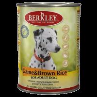 """Консервы """"Беркли"""" 400г д-собак оленина-коричневый рис"""