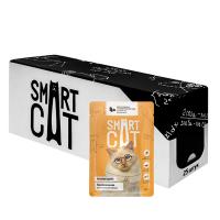 """Консервы """"Smart Cat"""" паучи 85г д-коше\котят кусочки курочки с тыквой в нежном соусе"""