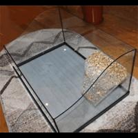Аквариум-террариум с берегом ,крышкой .свет 42л 52,5*32*25,5см (
