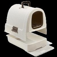 """Туалет-домик """"Curver PetLife"""" д-кошек кремово-коричневый 51*39*40см (198849)"""