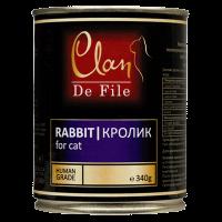 "Консервы ""Клан Де Феле"" 340г д-кошек кролик"