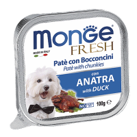 "Консервы ""Monge Dog"" Fresh 100г д-собак утка"