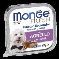 """Консервы """"Monge Dog"""" Fresh 100г д-собак ягненок"""