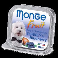 """Консервы """"Monge Dog"""" Fruit 100г д-собак индейка с черникой"""
