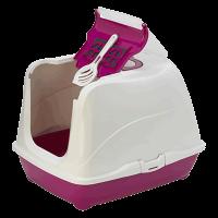 """Moderna Туалет-домик """"Jumbo"""" с угольным фильтром 57*44*41см ярко-розовый"""