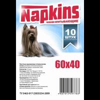 """Пеленки """"Напкинс"""" 10шт д-собак 60*40 см"""