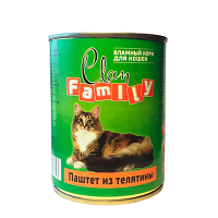 """Консервы """"Клан Фамили"""" 415г д-кошек паштет телятины"""