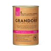 """Консервы """"GRANDORF"""" 400г д-собак 90% мяса Буйвол и Индейка"""