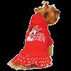 """Толстовка """"Микки Маус"""" Минни WD1033  S красная с юбочкой и капюшоном"""