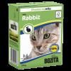 "Консервы ""Бозита"" 370г д-кошек кусочки кролик в желе"