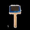 ЗооЭкспресс Пуходерка двухсторонняя с каплей и деревянной ручкой (23012)
