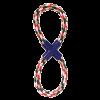 """Triol Игрушка-Грейфер """"Восьмёрка"""" веревка цветная 28см д-собак (12111016)"""