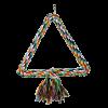 """Triol Игрушка """"Качели -треугольник веревочный"""" д-крупных птиц 25см (0250XJ)"""