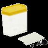 Аквариумный набор для петушков с перегородкой ,присосками 12*7*11(1101210)