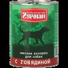 """Влажный корм """"Четвероногий гурман"""" 340г д-собак мясное ассорти говядина"""