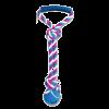 """Triol Игрушка-Грейфер """"Мяч с 2-мя узлами"""" веревка цветная с ручкой 43см д-собак (0109XJ)"""