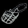 ГАММА Намордник №5 метал.  д-собак овчарка -кабель (Н-005)