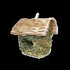 Triol Гнездо-домик д-птиц плетеное квадрат.со светлой крышей 17см (PT6001)
